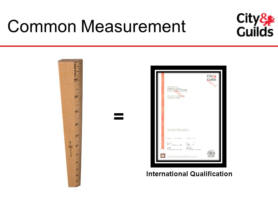 Common Measurement International Qualification =