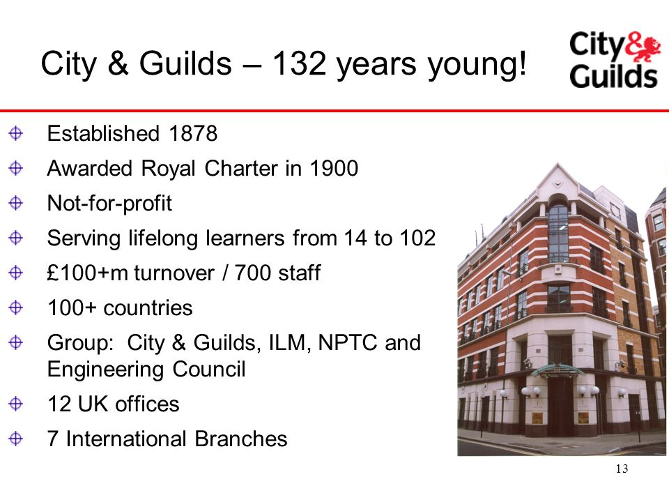 City & Guilds – 132 years young!
