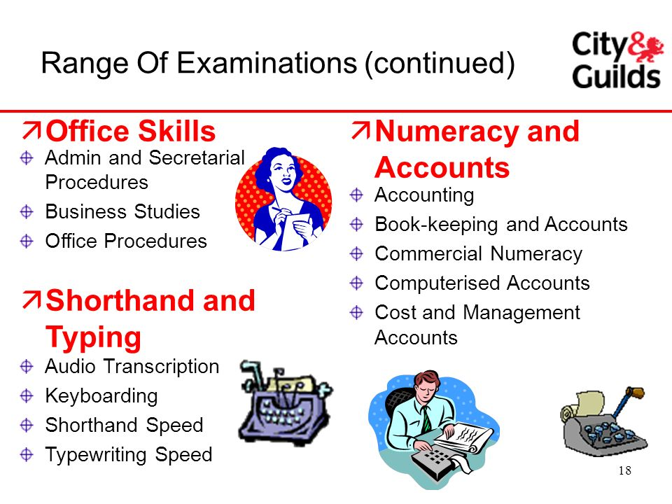 Range Of Examinations (continued)