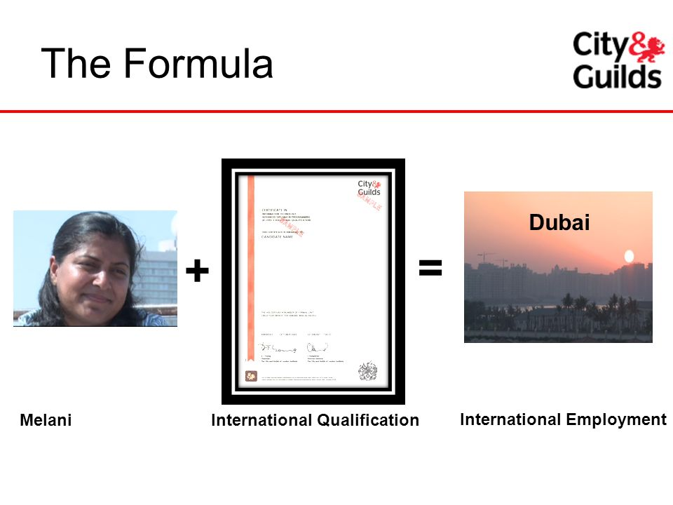 = + The Formula Dubai International Qualification