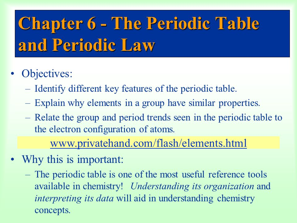 Chapter 6 The Periodic Table And Periodic Law Ppt Video Online