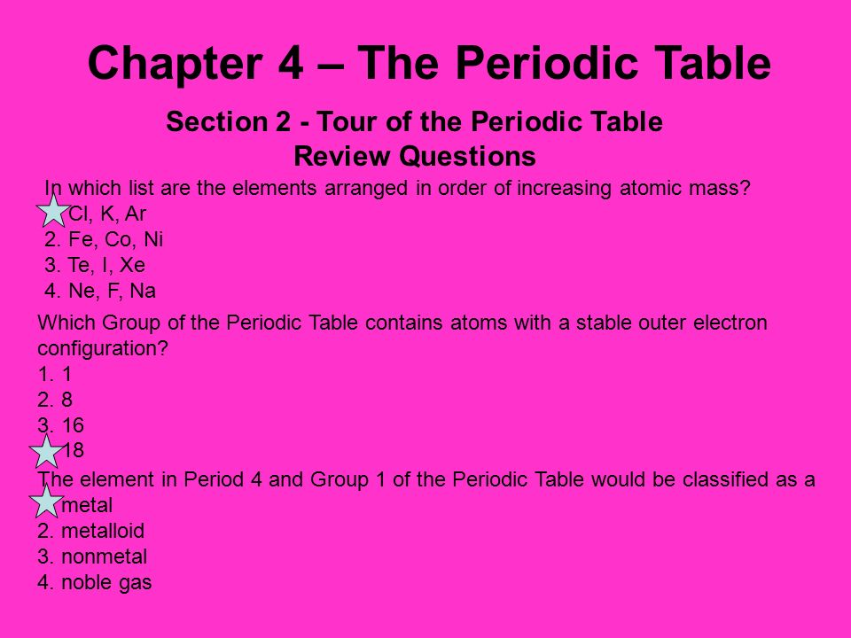 Chapter 4 the periodic table ppt video online download section 2 tour of the periodic table urtaz Images