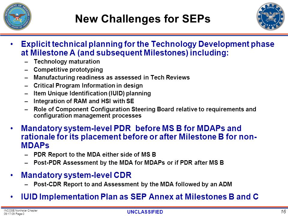 New Challenges for SEPs