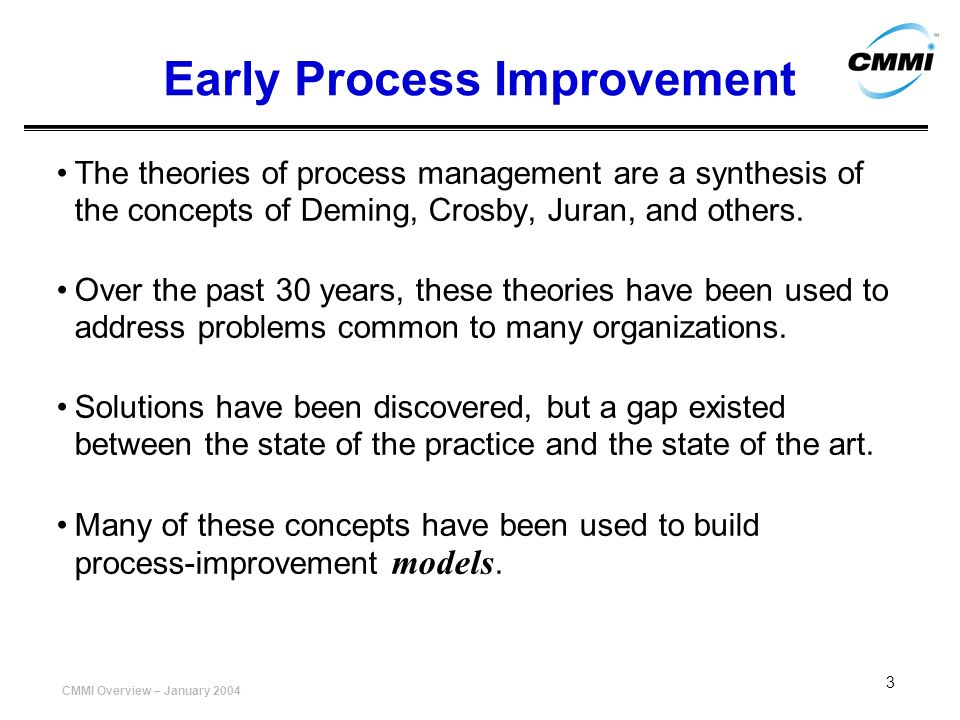 Early Process Improvement