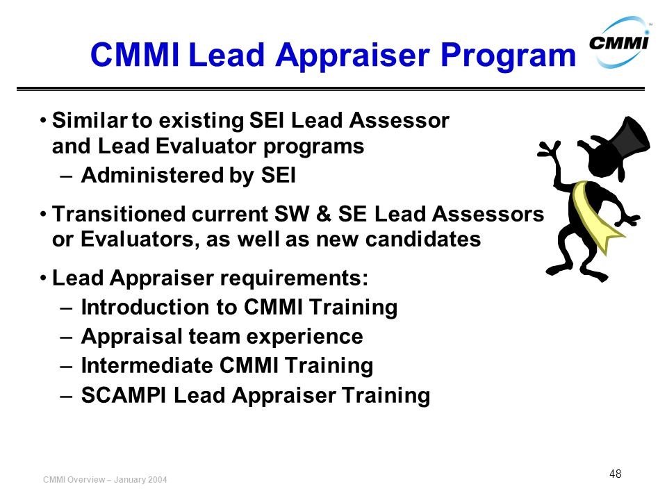 CMMI Lead Appraiser Program