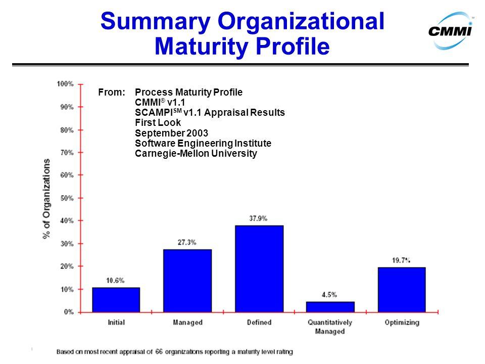 Summary Organizational Maturity Profile