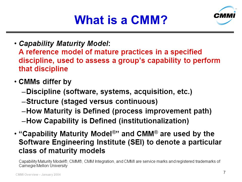 What is a CMM