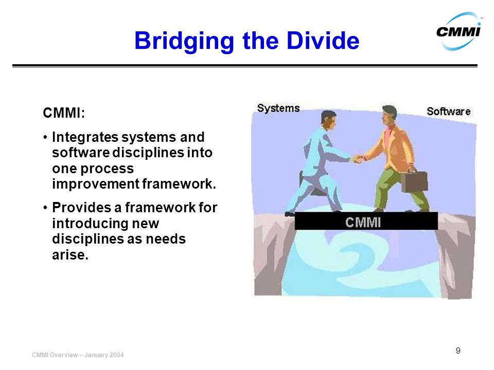 Bridging the Divide CMMI: