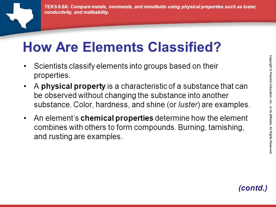 Periodic Table physical properties of elements on the periodic table luster : How Are Elements Classified? - ppt video online download