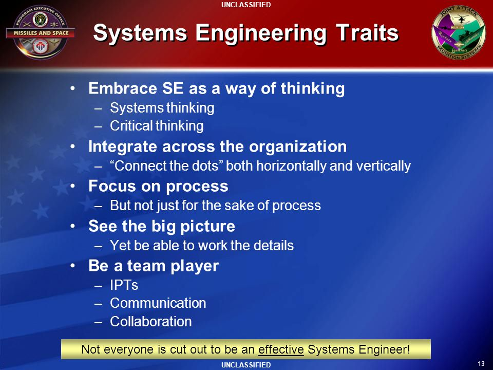 Systems Engineering Traits