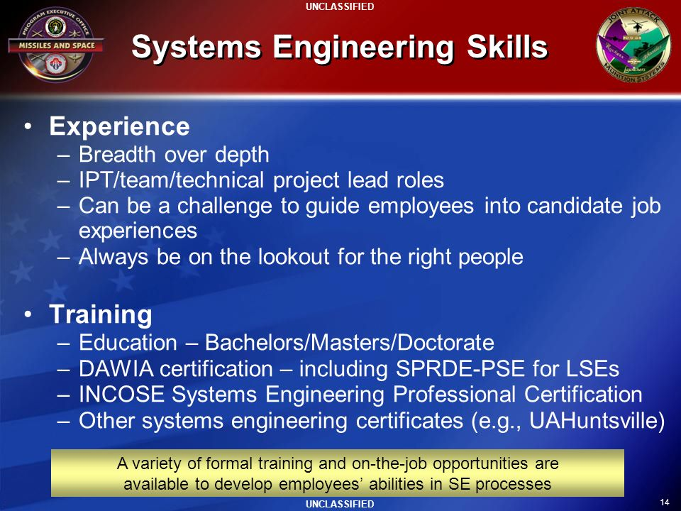 Systems Engineering Skills