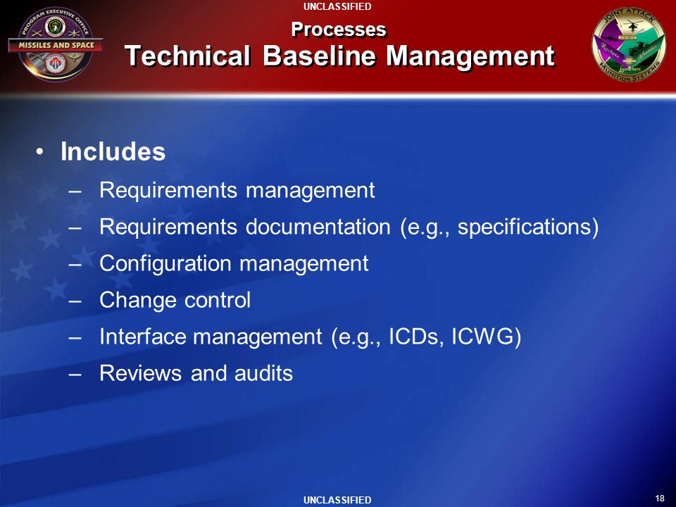Processes Technical Baseline Management