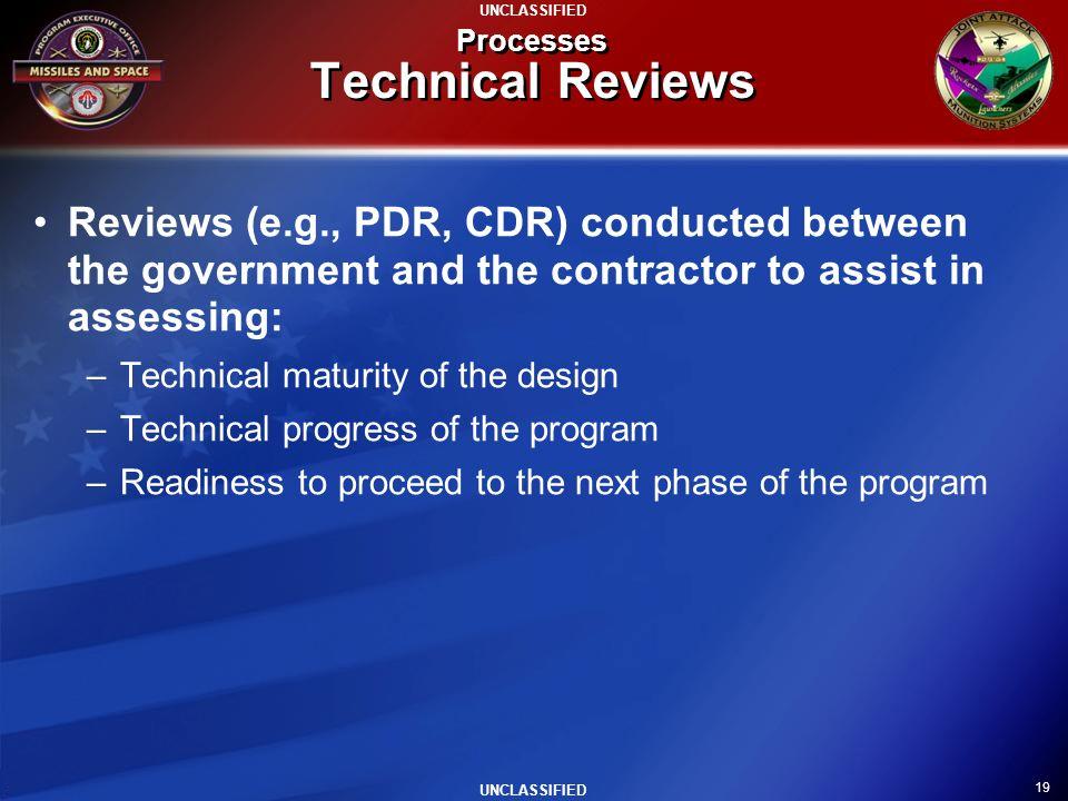 Processes Technical Reviews