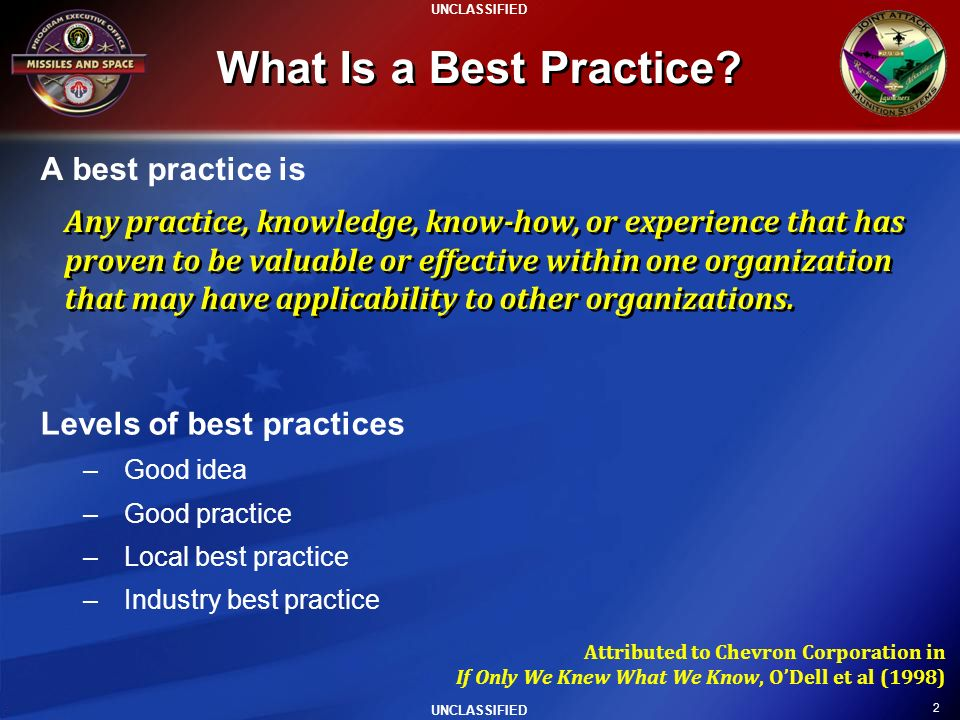 What Is a Best Practice A best practice is