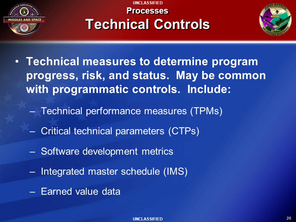 Processes Technical Controls