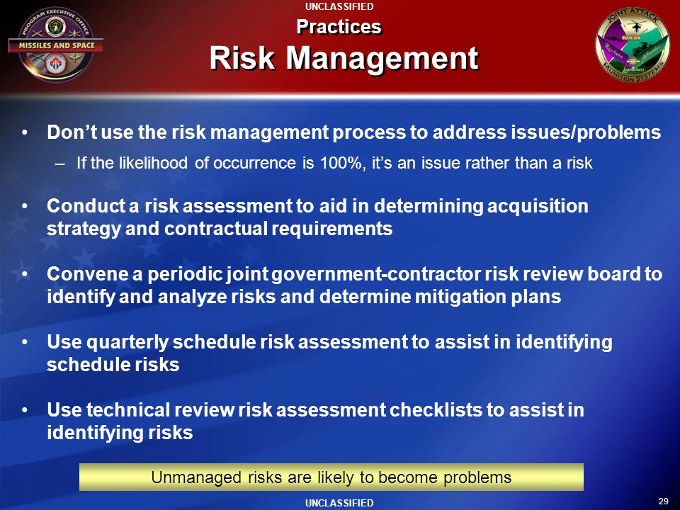 Practices Risk Management