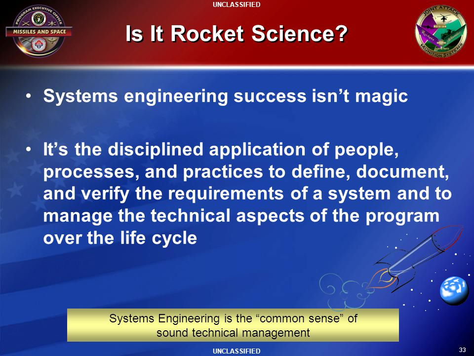 Is It Rocket Science Systems engineering success isn't magic