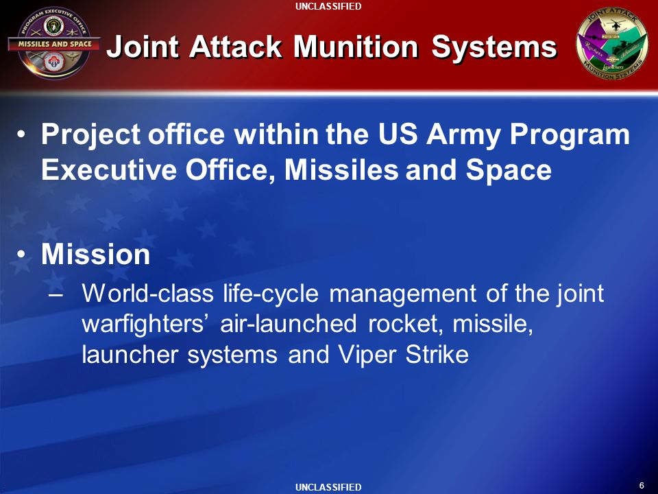 Joint Attack Munition Systems