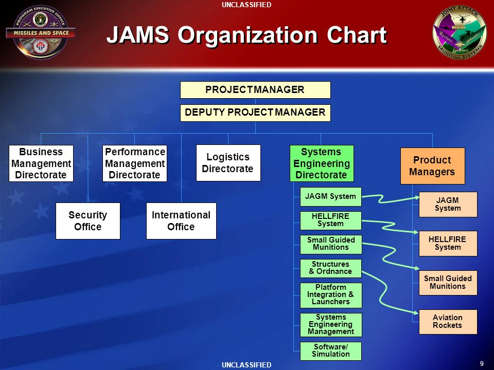 JAMS Organization Chart