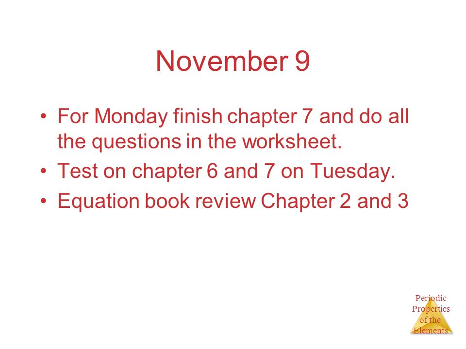 Chapter 7 Periodic Properties of the Elements ppt video online – Periodic Properties Worksheet