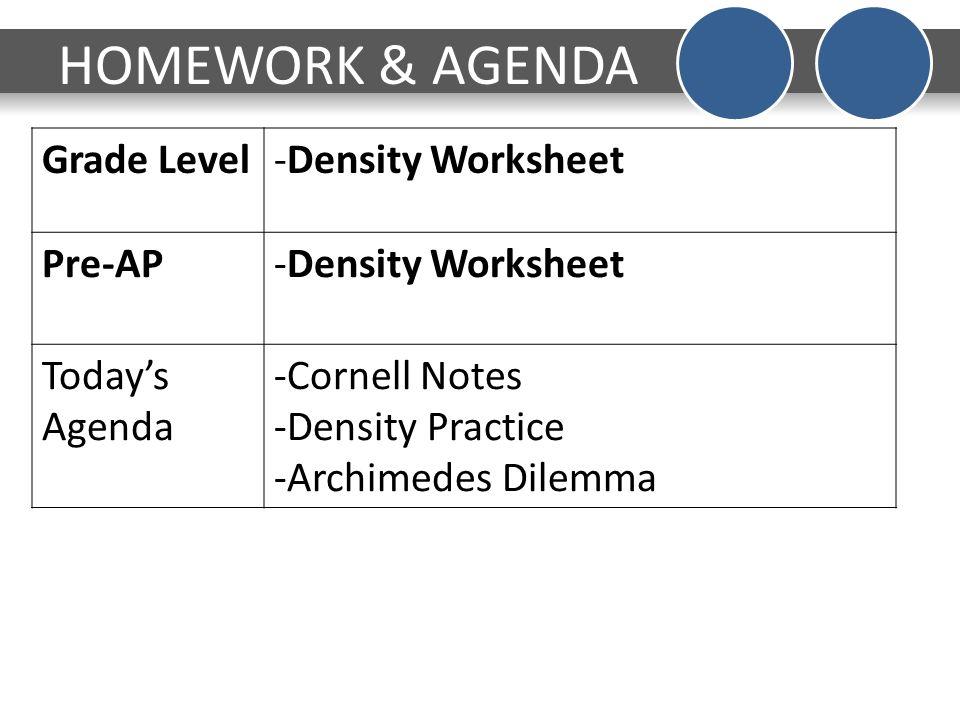 Density calculations worksheet grade 9