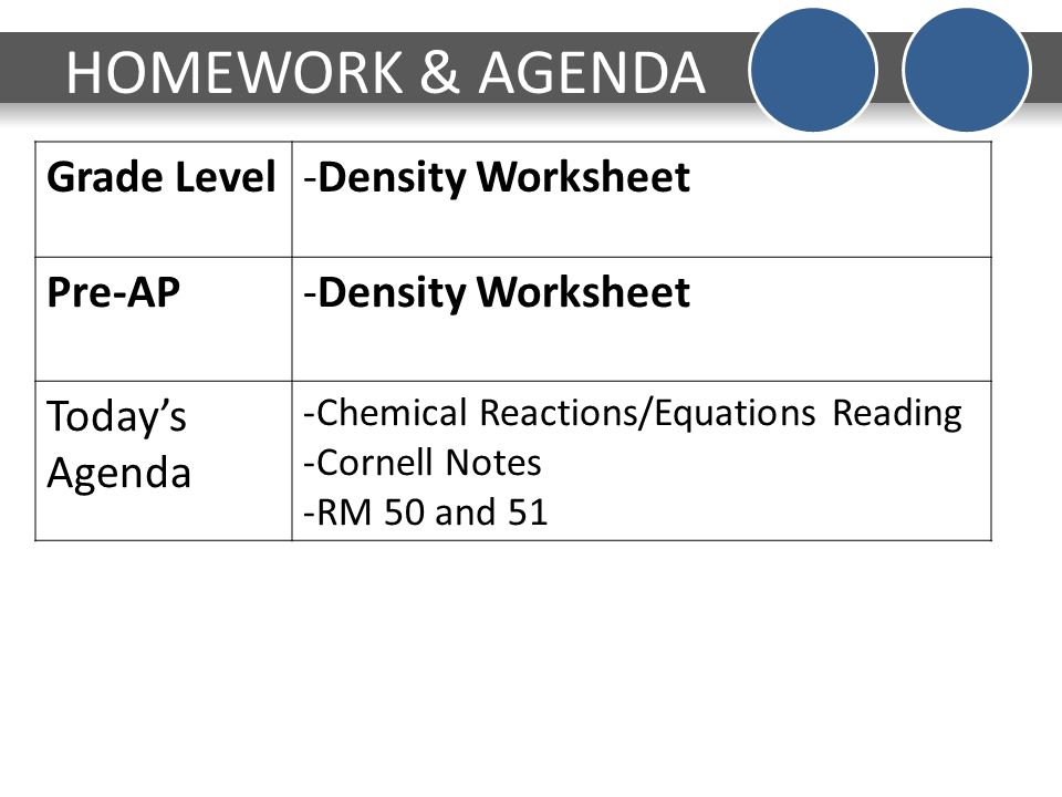 DO NOW V 0 Monday Answer the question on page 41 of your INB – Density Worksheet