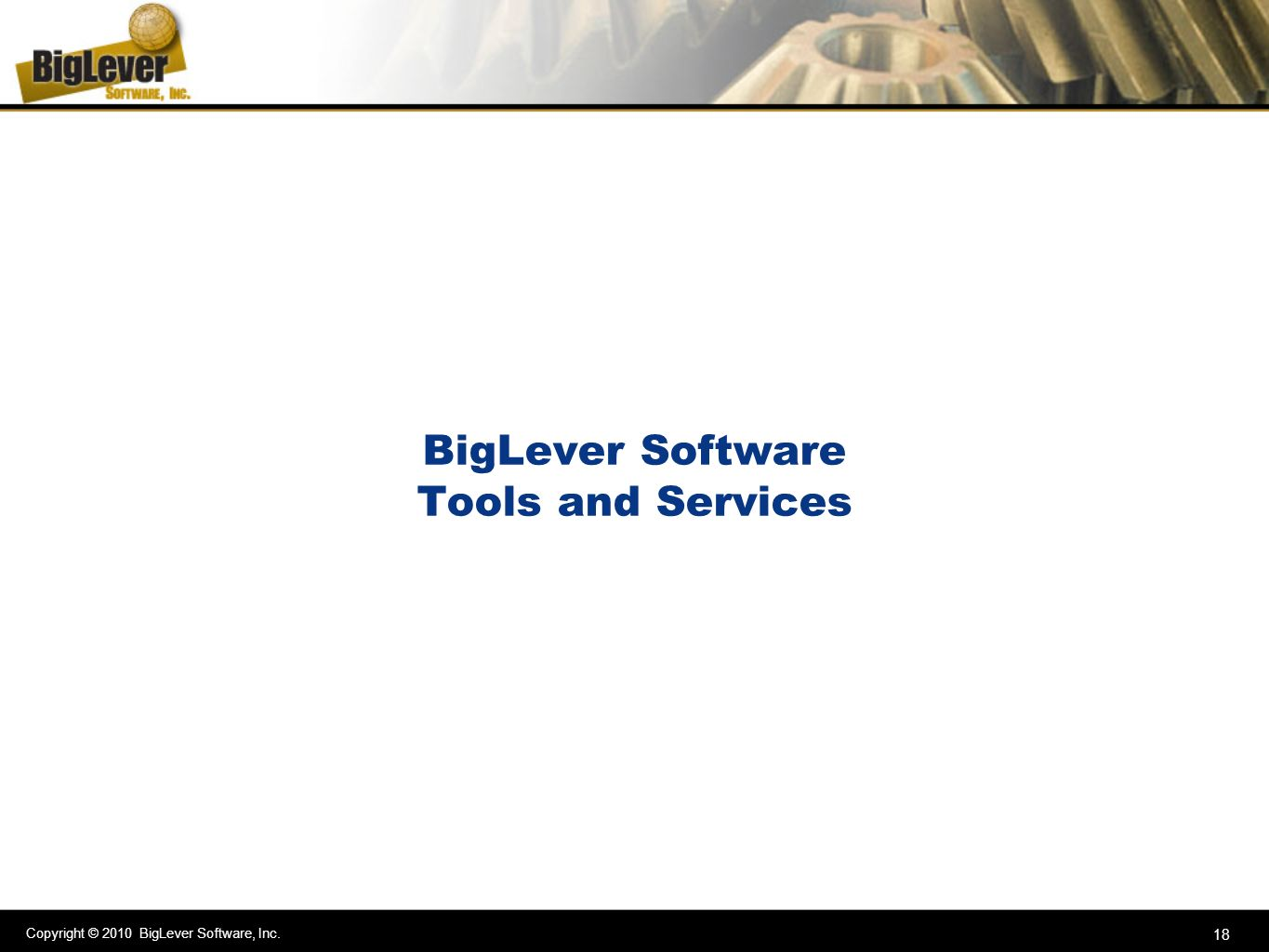 BigLever Software Tools and Services