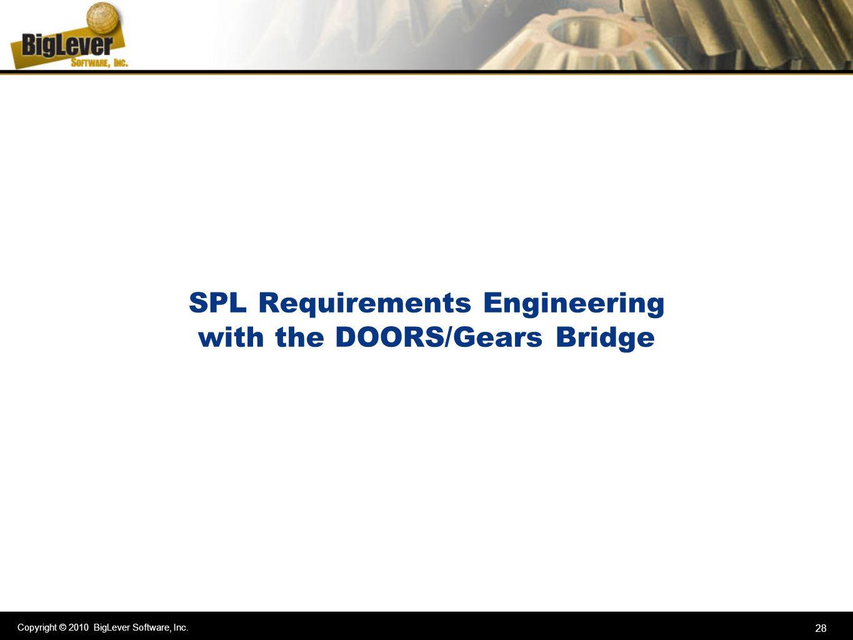 SPL Requirements Engineering with the DOORS/Gears Bridge