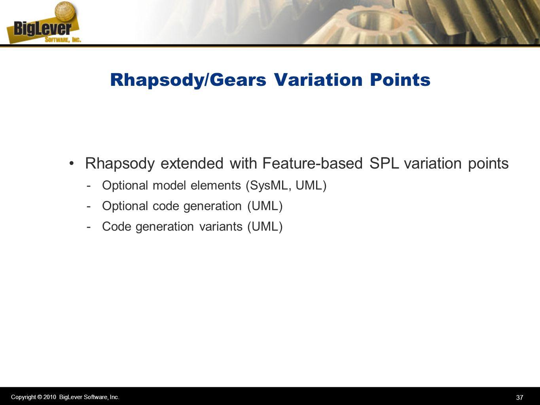 Rhapsody/Gears Variation Points