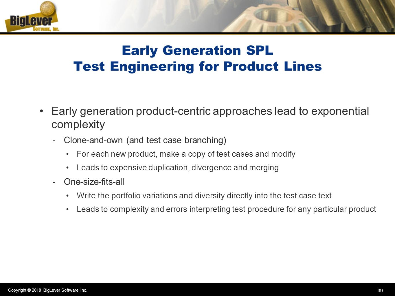 Early Generation SPL Test Engineering for Product Lines
