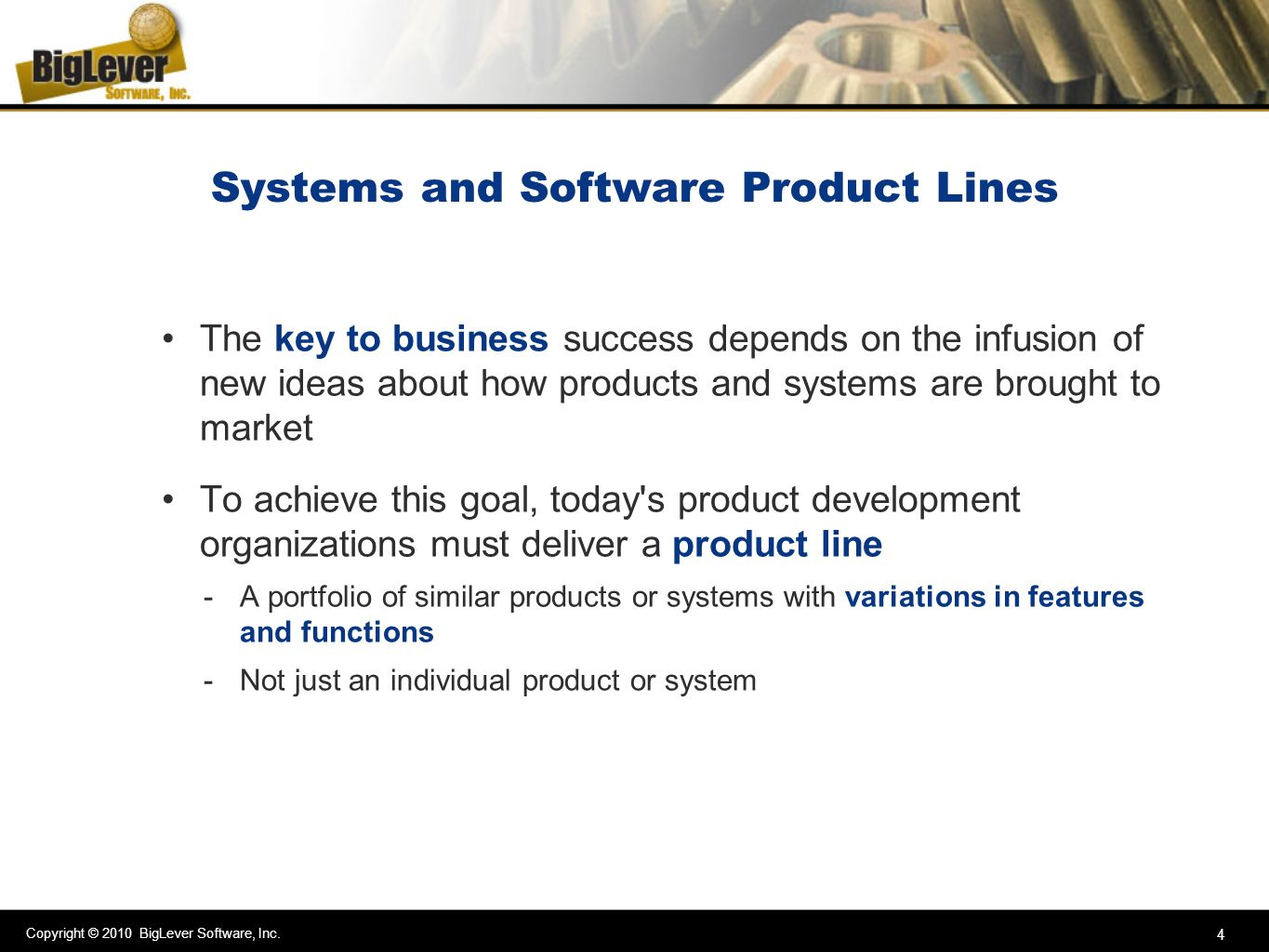 Systems and Software Product Lines