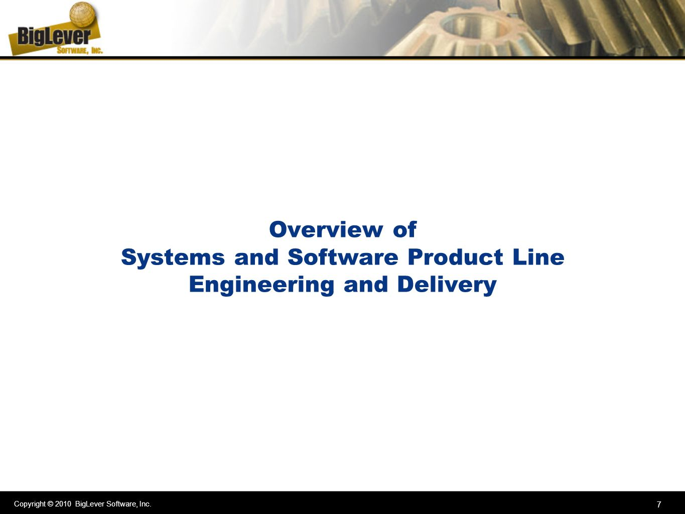 Overview of Systems and Software Product Line Engineering and Delivery
