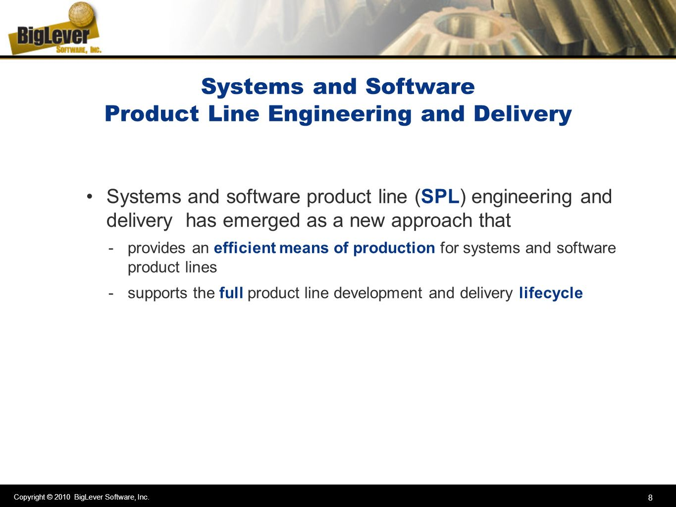 Systems and Software Product Line Engineering and Delivery