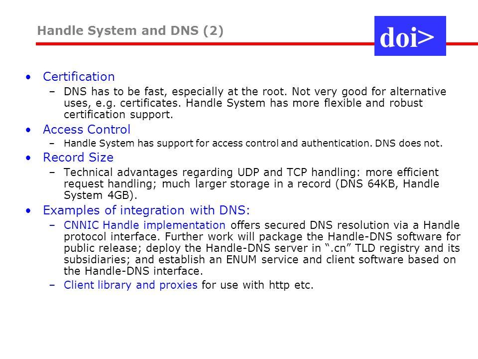 The DOI System The DOI System