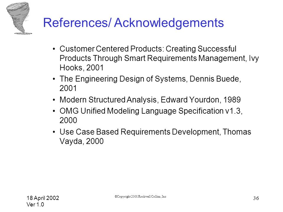 References/ Acknowledgements