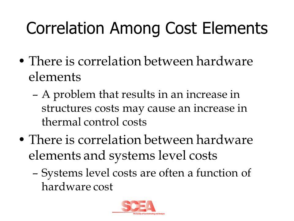 Correlation Among Cost Elements