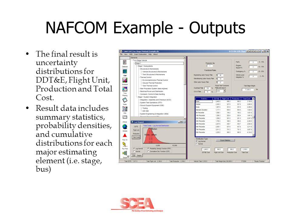 NAFCOM Example - Outputs