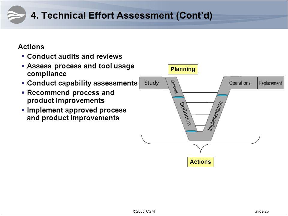 4. Technical Effort Assessment (Cont'd)