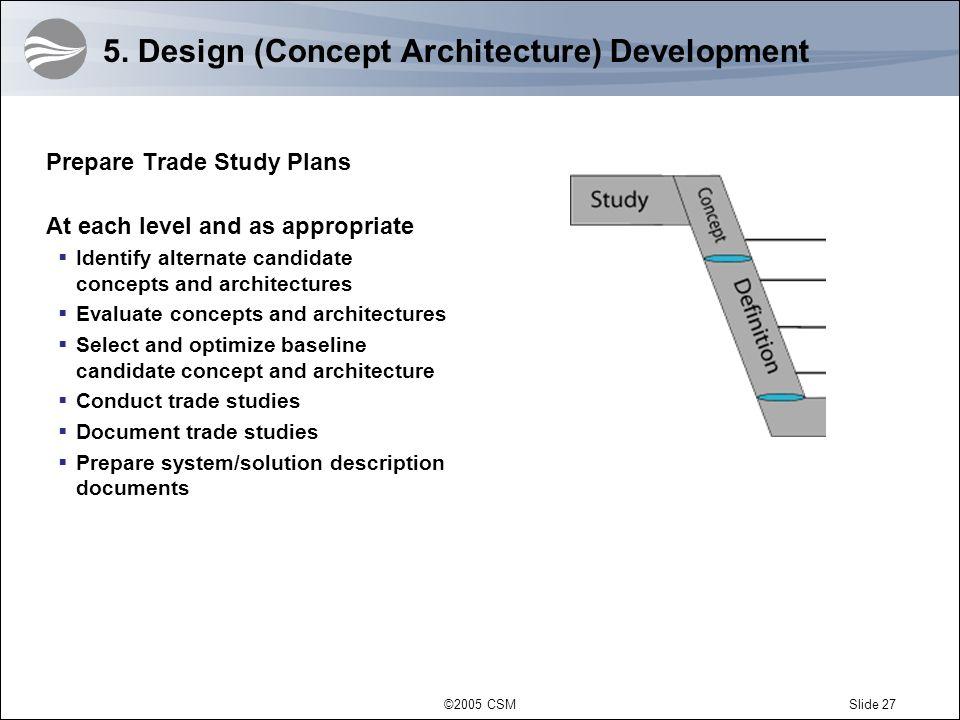 5. Design (Concept Architecture) Development