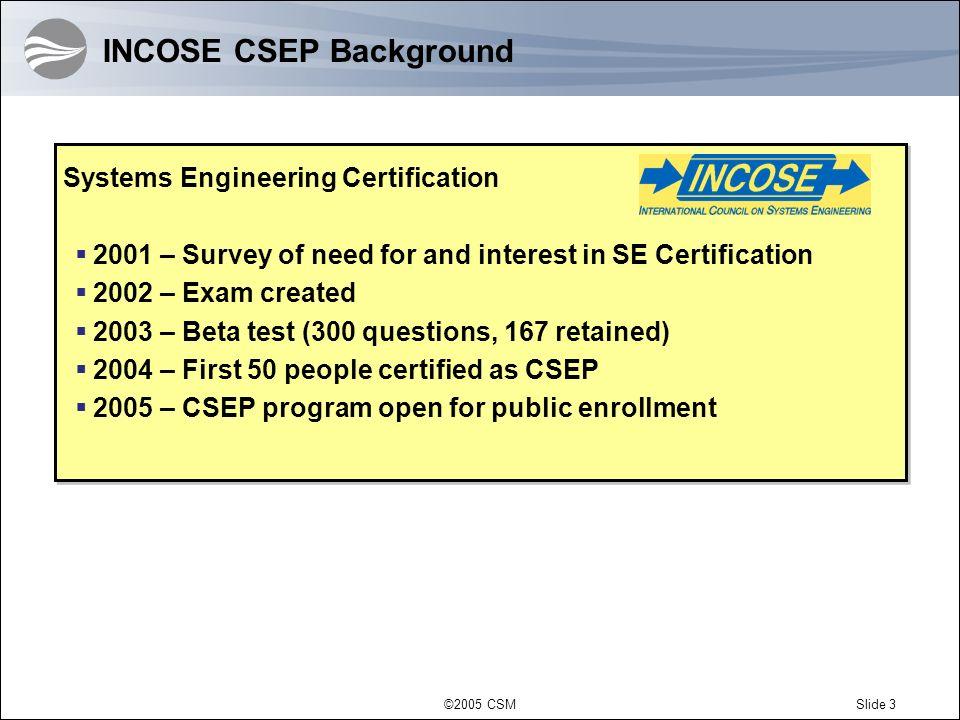 INCOSE CSEP Background