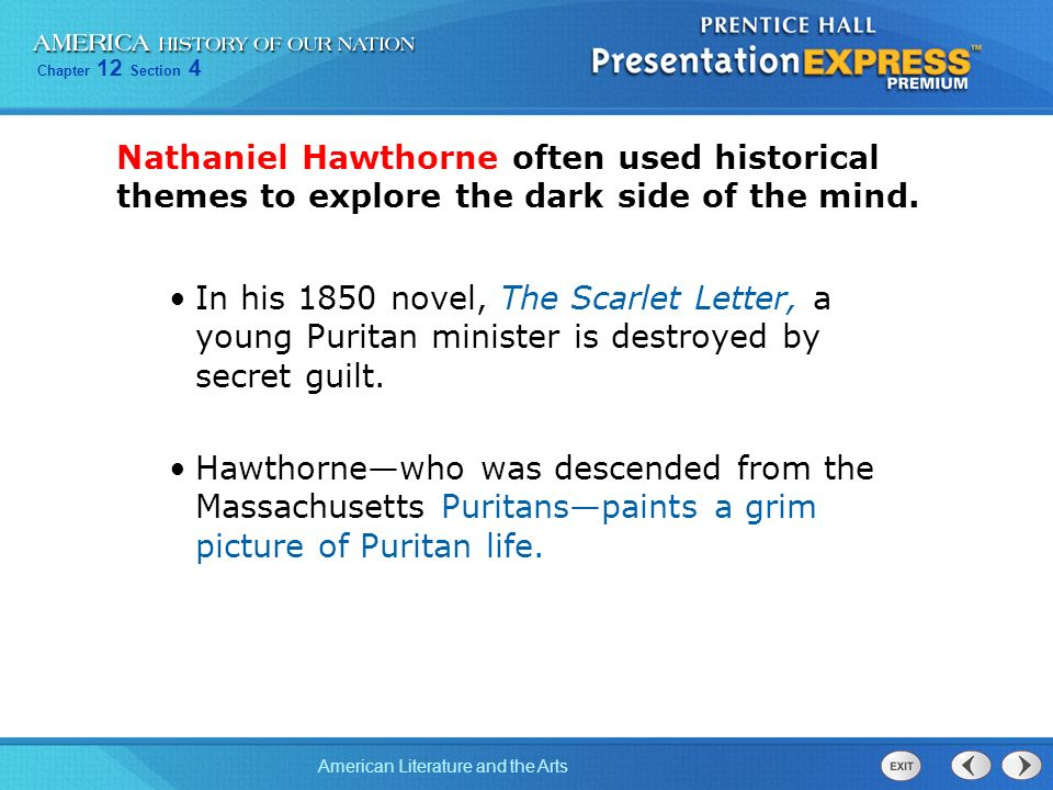 the themes of guilt and its effects as portrayed in nathaniel hawthornes the scarlet letter Roger chillingworth the scarlet letter nathaniel who knew that heaven promotes its purposes without aiming at the stage-effect of what is called.