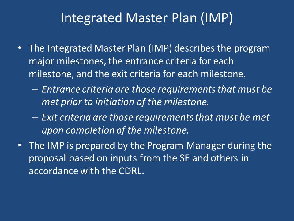 Integrated Master Plan (IMP)