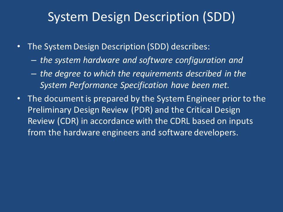 System Design Description (SDD)