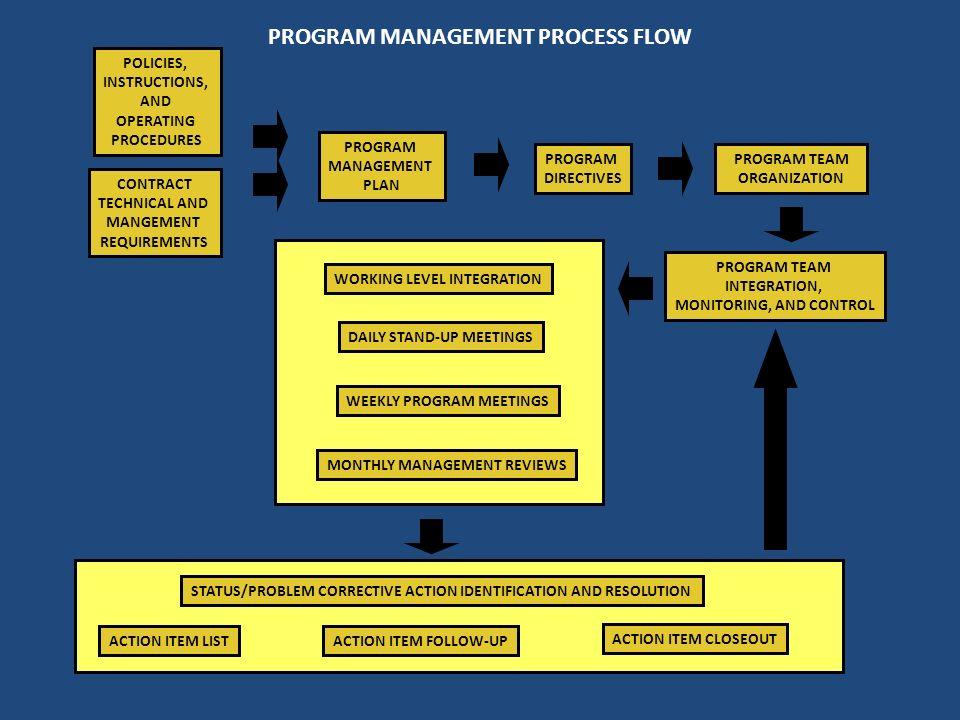 PROGRAM MANAGEMENT PROCESS FLOW