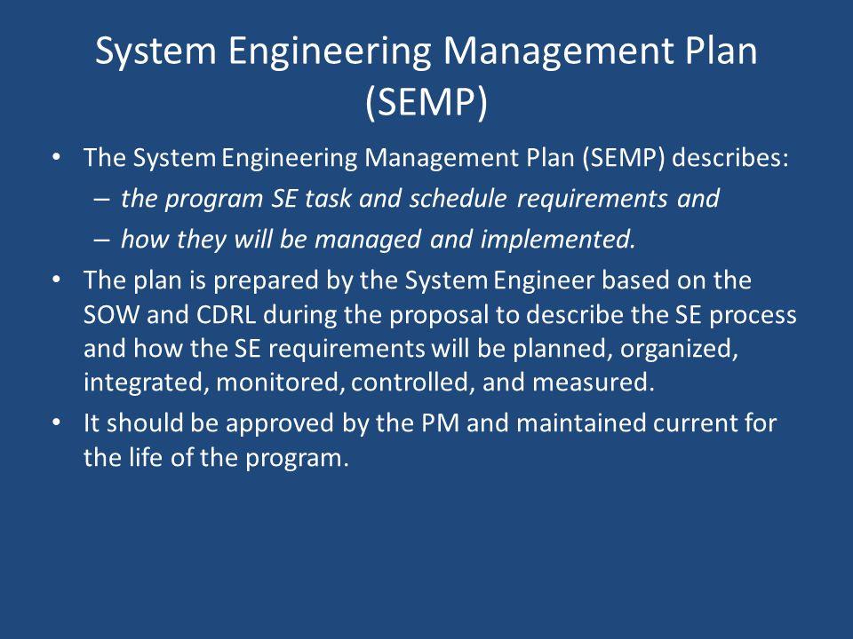 System Engineering Management Plan (SEMP)