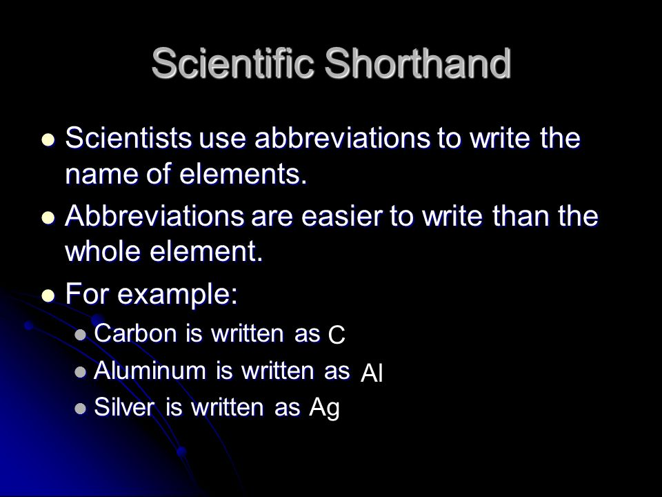 Properties of atoms and the periodic table ppt download scientific shorthand scientists use abbreviations to write the name of elements abbreviations are easier to urtaz Gallery
