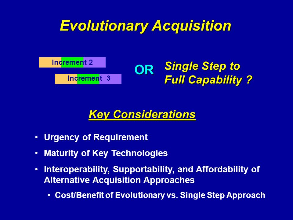 Evolutionary Acquisition