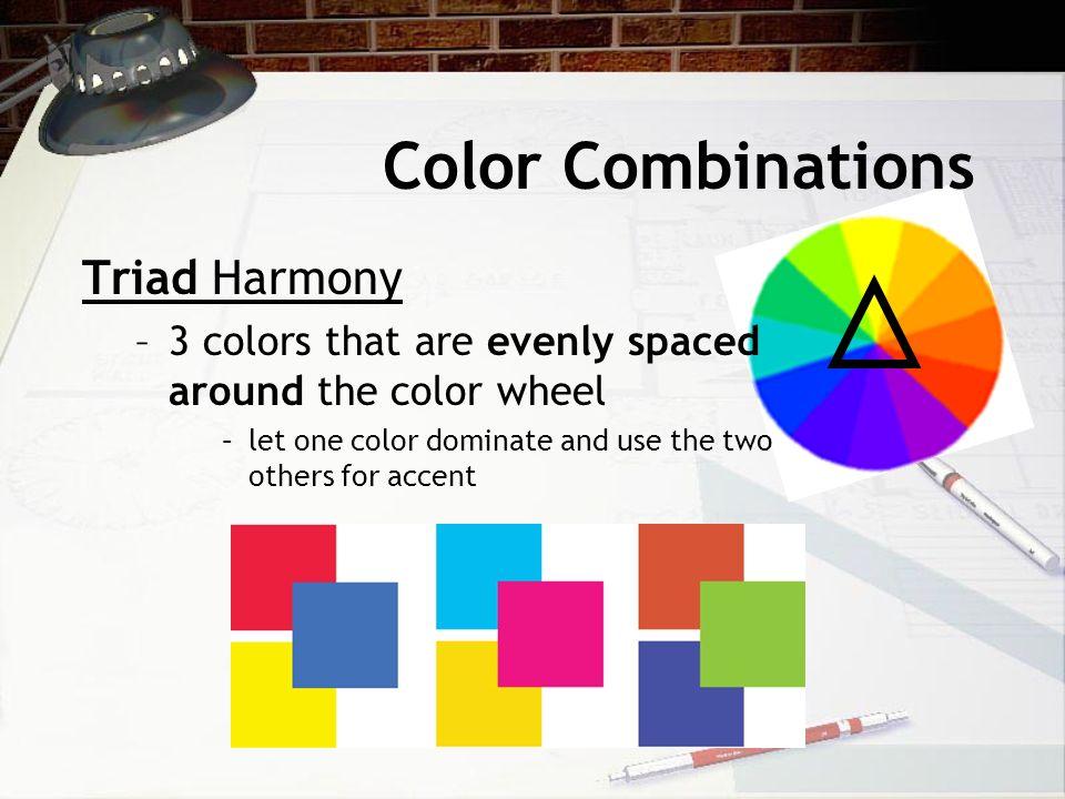12 Color Combinations Triad Harmony