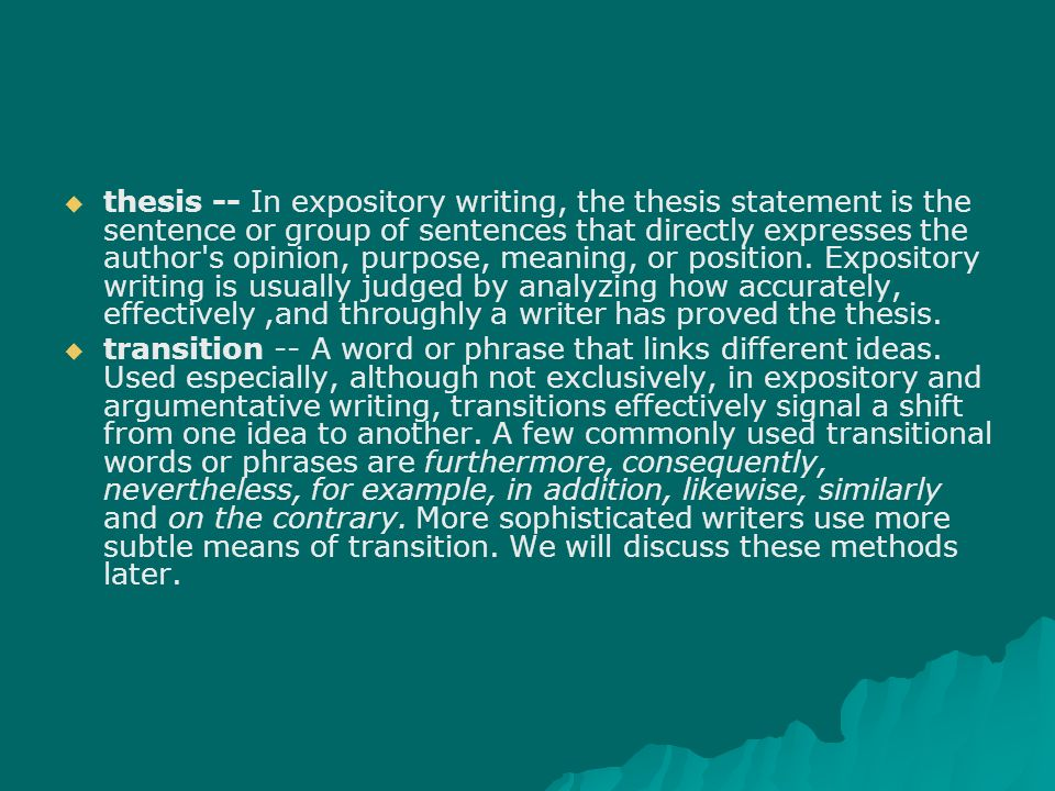 thesis writing using