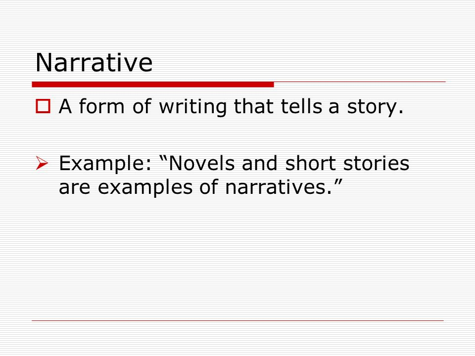 Forms Of Narrative Writing Term Paper Service